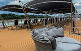 The sun deck on the AmaMagna, AmaWaterways' new mega ship that is twice the width of traditional European river boats.