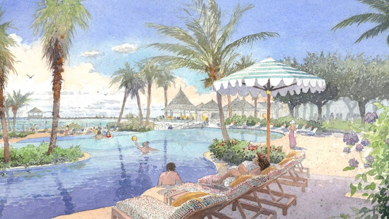 A rendering of the family pool planned for Tryall Club in Montego Bay, Jamaica.
