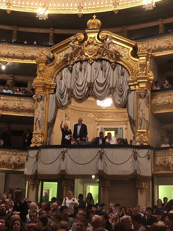 The Imperial box at the Mariinsky Theater, built in 1860.