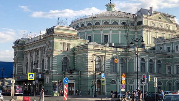 The exterior of St. Petersburg's Mariinsky Theater, where operas, concerts and ballets were once staged for Russia's nobility and royal family.