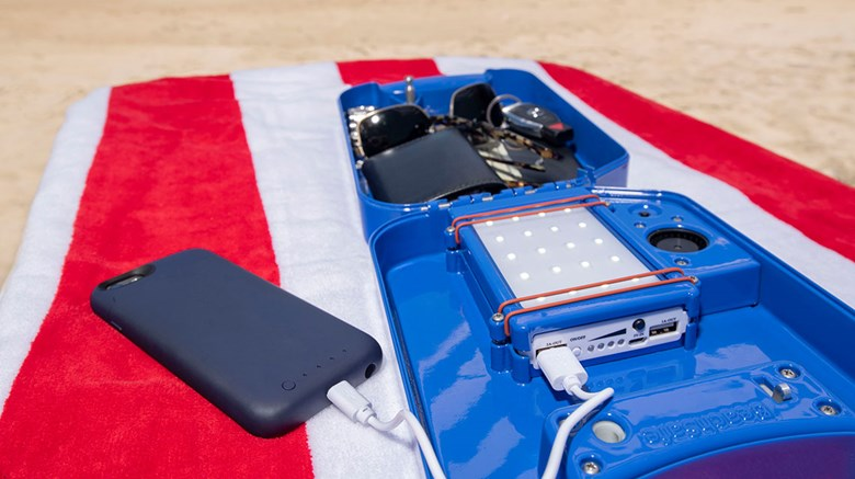 What's New, What's Hot is Travel Weekly's look at useful and fun travel gadgets, edited by Joe Rosen. First up, the beachsafe. Plenty of time remains to venture to the beach and a smart way to do so is with this portable security locker in tow.