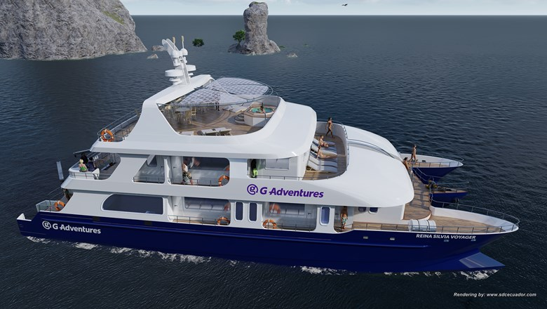 G Adventures' sixth adventure yacht in the Galapagos, the Reina Silvia Voyager, will hold up to 16 passengers in 10 cabins.