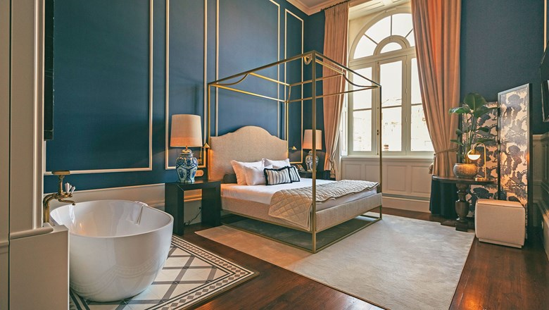 A guestroom at Torel Boutiques' Torel 1884, which opened this year in Porto.