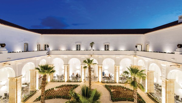 The exterior of the Vila Gale Collection Elvas Historic Hotel, Conference & Spa, which is the first hotel to open under the government's Revive program.