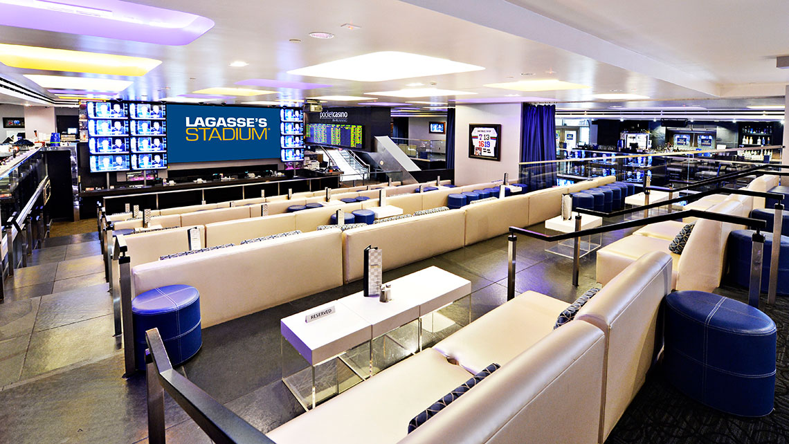 Lagasse's Stadium, featuring the famous chef's food, is one of the most sought-after spots to watch games on the Strip.