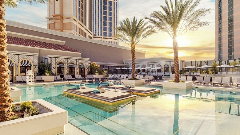 A renewed sense of European escape was the goal of the Venetian's recent pool deck enhancements.