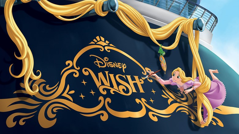 The Disney Wish's stern will feature Rapunzel.