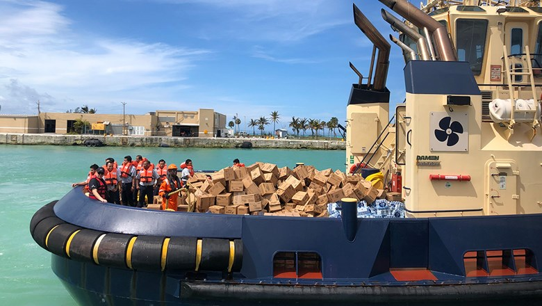 Royal Caribbean International's relief efforts on Grand Bahama Island in September. The island is recovering after a hit by Hurricane Dorian.