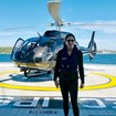 A cruise ship helicopter has immense luxury value