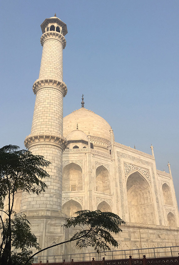 The Taj Mahal in Agra is a must-see for first-time travelers to India.