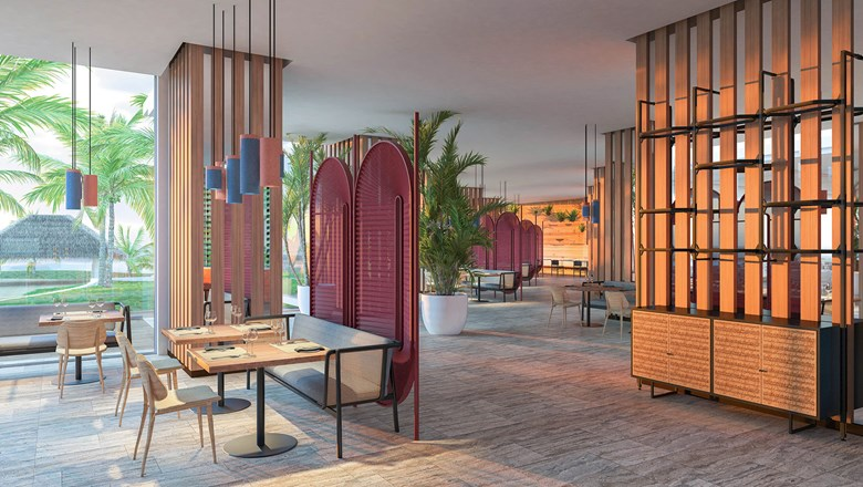 A rendering of the Malva Food Bazaar buffet, opening later this year at the Paradisus Cancun.