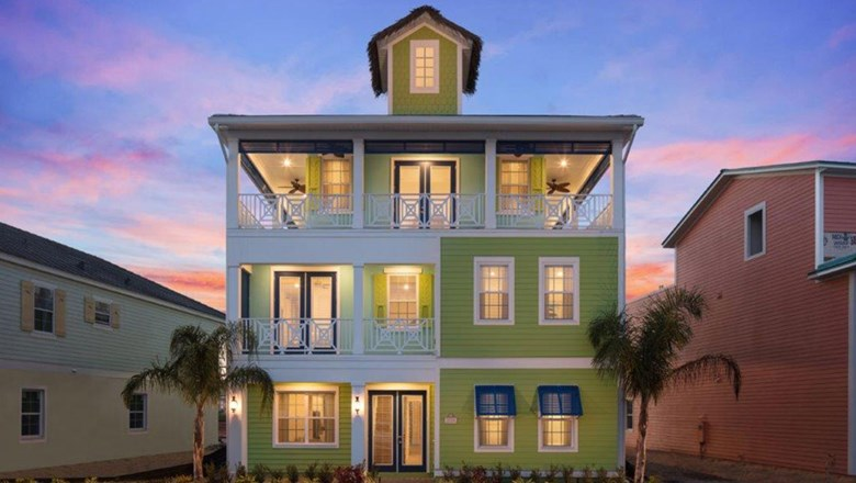 One of the cottages at the Margaritaville Resort Orlando, which sleep up to 24 guests.