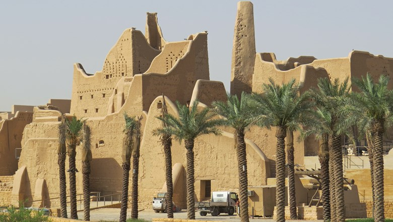 Ruins in Diriyah, Saudi Arabia, a Unesco World Heritage Site that is known as the birthplace of Saudi Arabia.