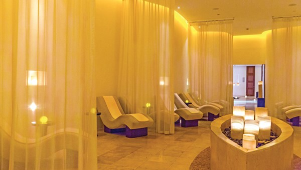 The spa at Le Blanc Spa Resort Cancun, which features 19 treatment suites.