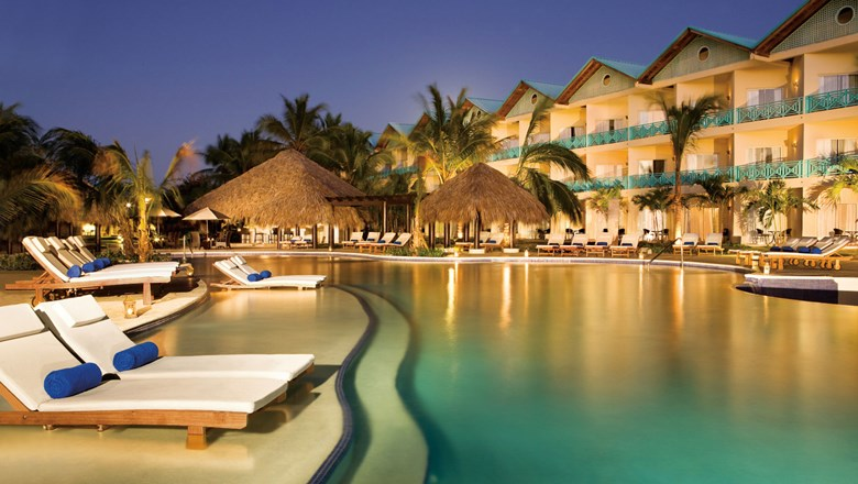 The adults-only pool at the Hilton La Romana in the Dominican Republic.