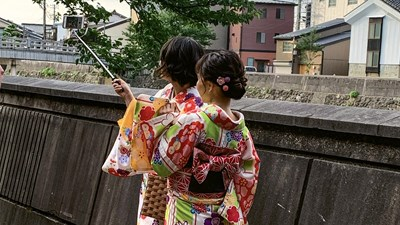 A kimono moment in Japan's New Golden Age