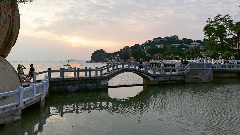The sun sets on Shuzhuang Garden on the traffic-free Gulangyu Island.