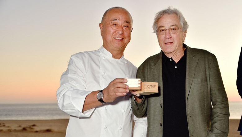 Nobu Matsuhisa and Robert De Niro were on hand to celebrate the hotel's official launch.