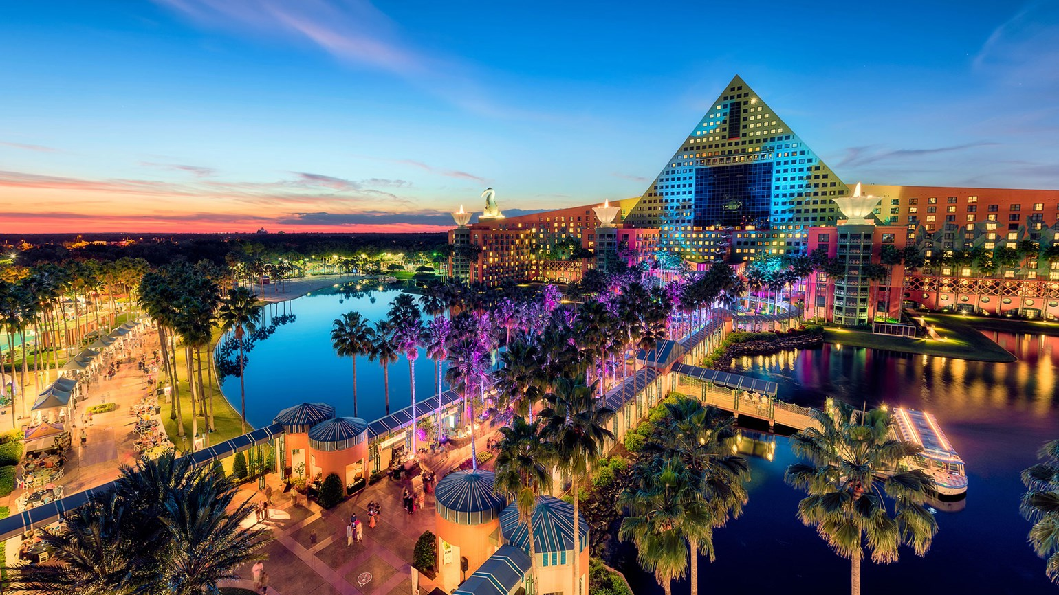 Disney World's Swan and Dolphin remain iconic in architecture, experience