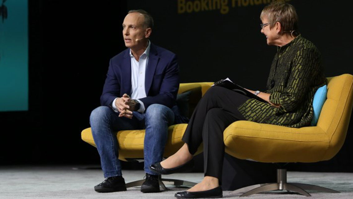 Booking CEO Glenn Fogel on the connected trip, overbooking and resort fees