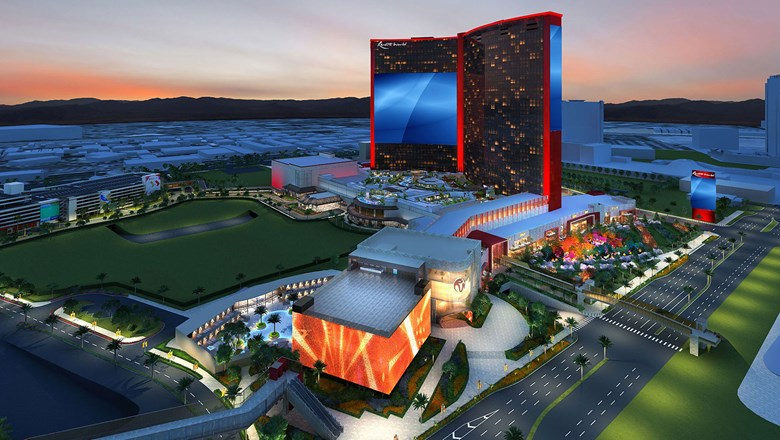 A rendering of the $4.3 billion Resorts World Las Vegas, now under construction.
