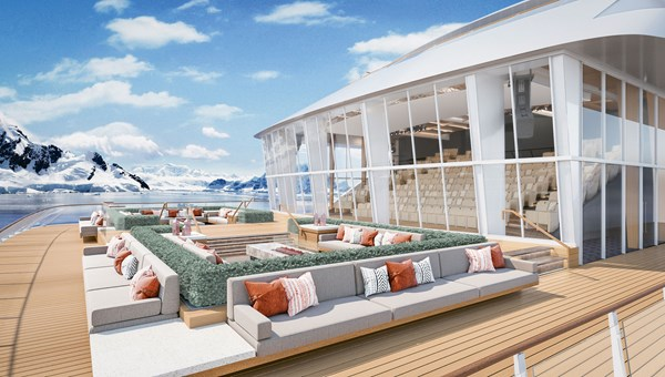 Viking's expedition ships will feature the Finse Terrace.