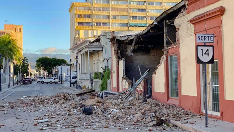 Damage from earthquakes in southwestern Puerto Rico in January 2020 reduced many buildings to rubble.