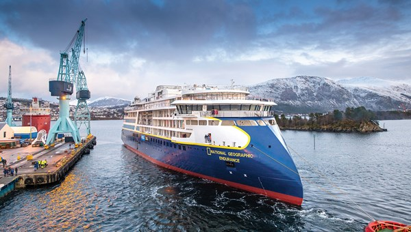 Lindblad's National Geographic Endurance on its float-out.