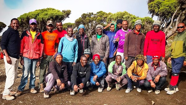 The Tusker Trail team of porters and guides kept us safe, motivated and comfortable.