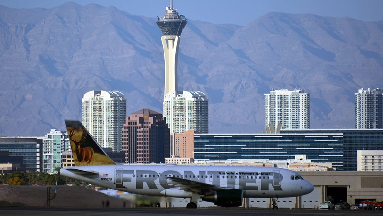 Frontier Airlines flew 3.1 million passengers in and out of McCarran in 2019, a 34.7% increase from the previous year.
