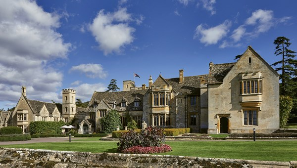 The grounds at Ellenborough Park, which dates to the 15th century.