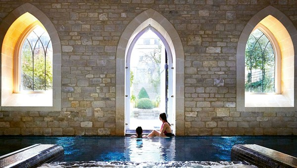 One of the pools at the Royal Crescent Spa.