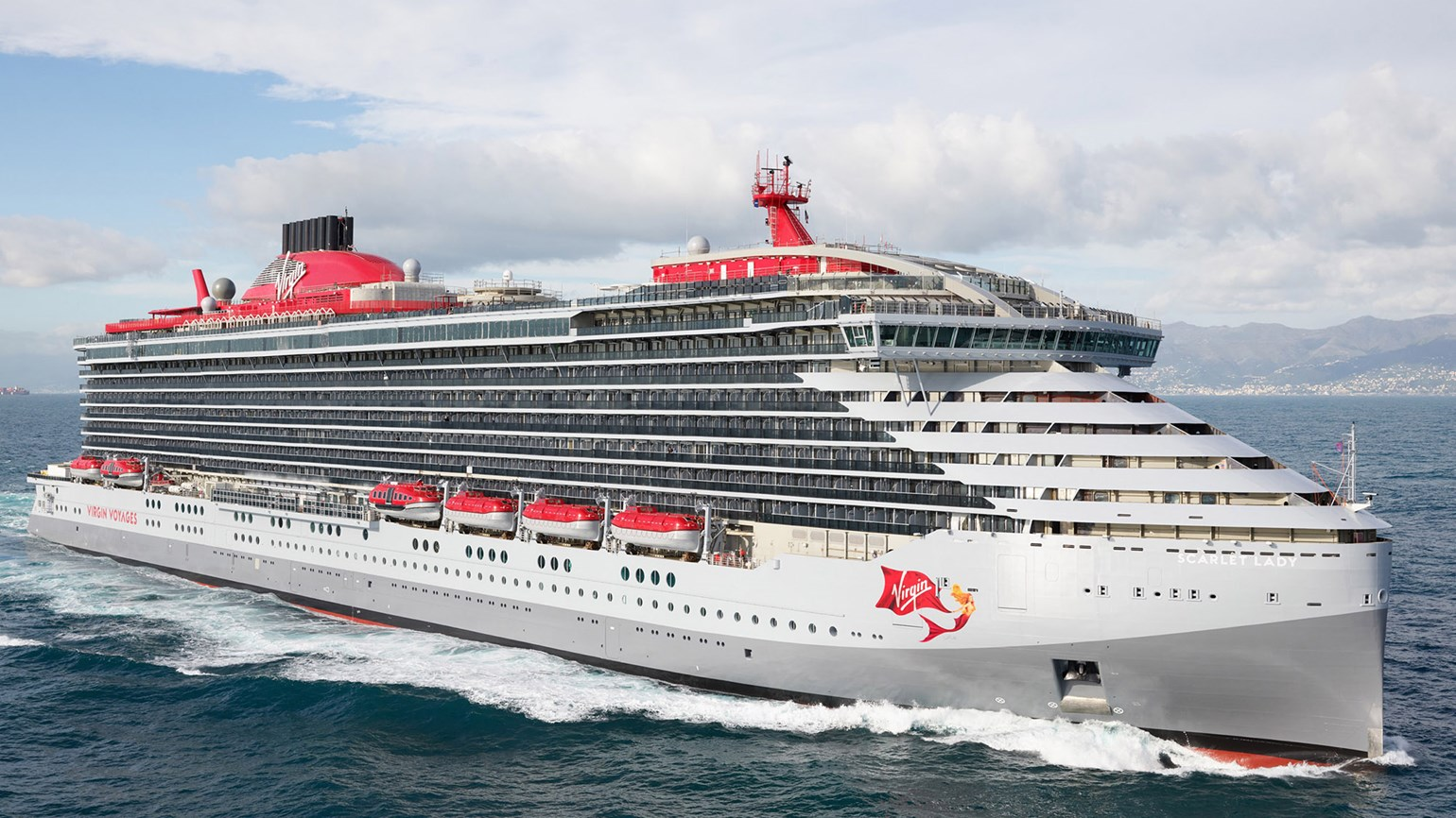 Virgin Voyages takes delivery of first ship, Scarlet Lady