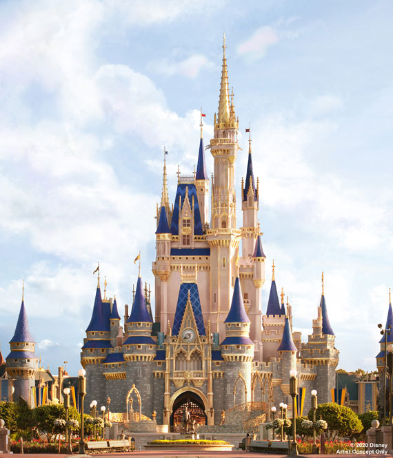 A rendering of Cinderella Castle once its refurbishment is complete.