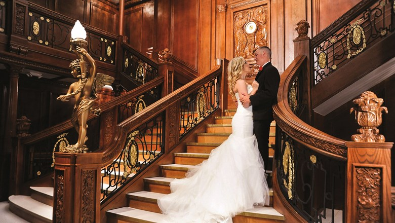 Luxor Las Vegas' wedding packages include a Titanic-themed Grand Staircase venue.