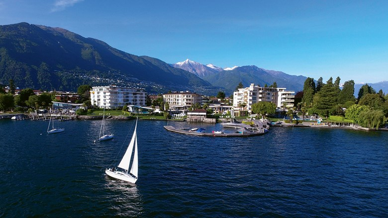 The Hotel Eden Roc Ascona on Lake Maggiore.