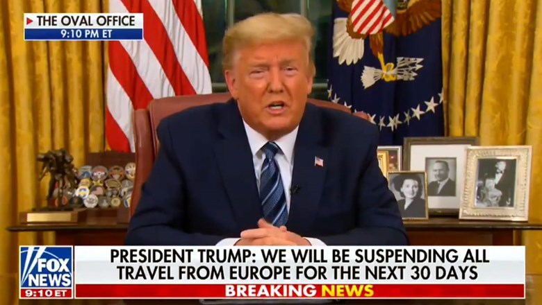 President Donald Trump on Wednesday announced a ban on most travel from Europe to the U.S. in an attempt to stem the spread of Covid-19.