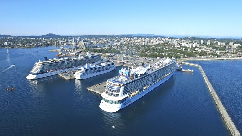 Alaska cruises from Seattle must call in Victoria, B.C., in accordance with U.S. cabotage laws.