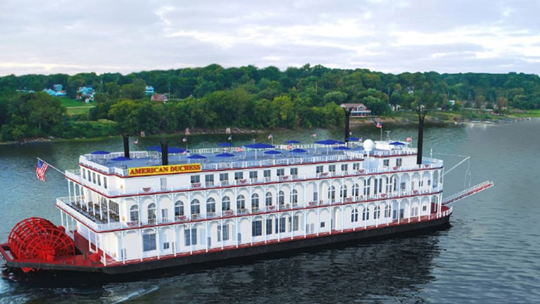 American Queen Steamboat Company's American Duchess paddlewheeler.