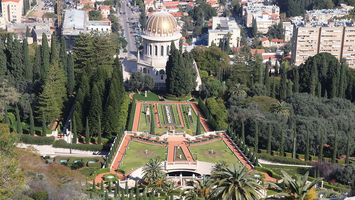 Destinations editor Eric Moya visited Israel as part of a Central Holidays fam trip. Pictured, the Bahai Gardens in Haifa, a Unesco World Heritage Site.