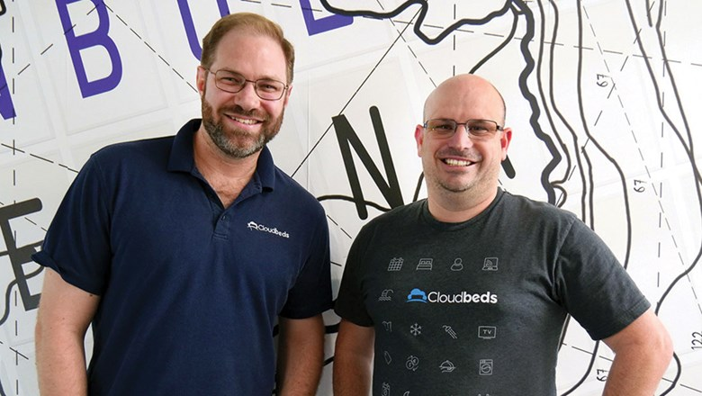 Cloudbeds, co-founded by Richard Castle (left) and Adam Harris, started the #Hospitalityhelps online platform.