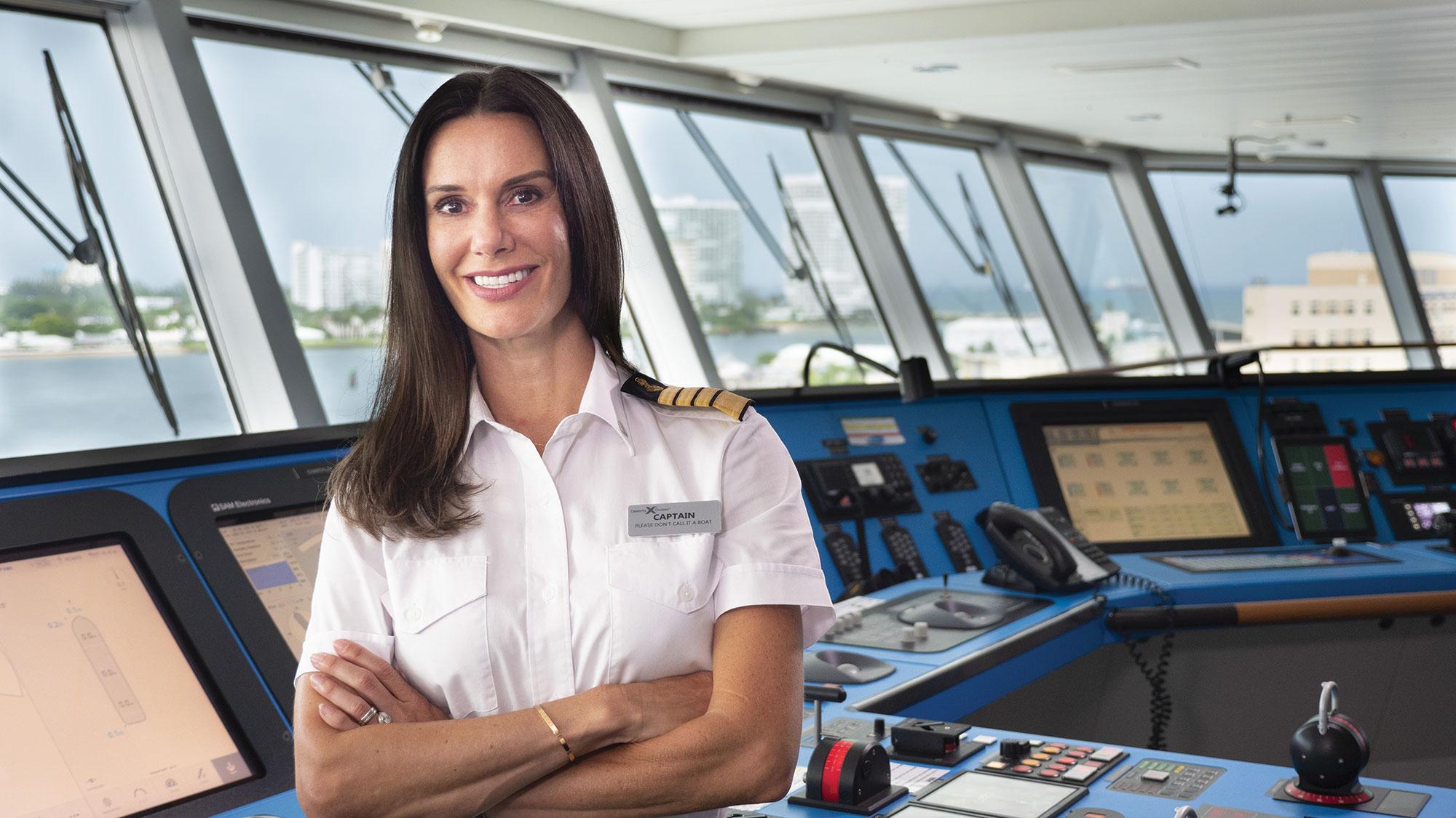 Capt. Kate McCue helms the Celebrity Edge.