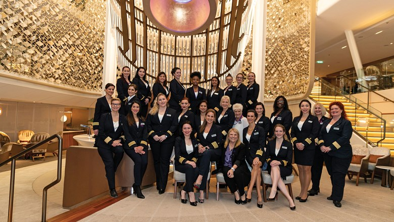 The Celebrity Edge had its first all-female bridge and hotel officer team for a roundtrip cruise on March 8, International Women's Day.