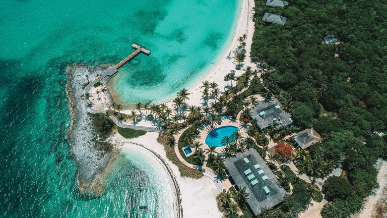 Royal Island, Cuvee's private island in the Bahamas. The company has had a handful of clients rent properties to self-isolate.