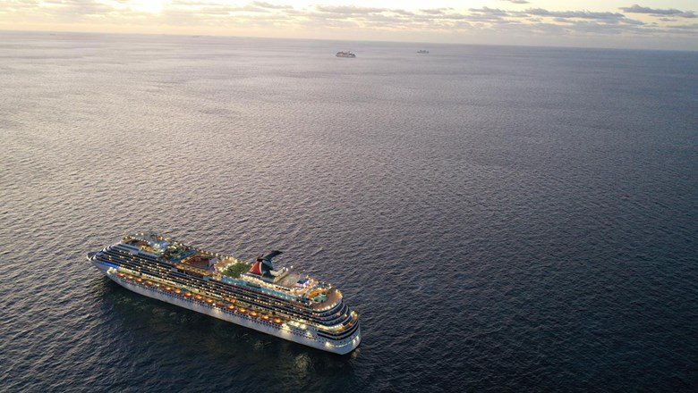 The Carnival Dream back in May. Carnival Cruise Line has said that whenever it resumes operations, it will first sail from Miami and Port Canaveral.
