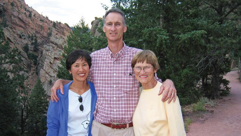 "From left, Karen, Don and the late Muriel ""Mitzi"" Wood, who founded Gold Key Travel in Longmont, Colo., in 1966."