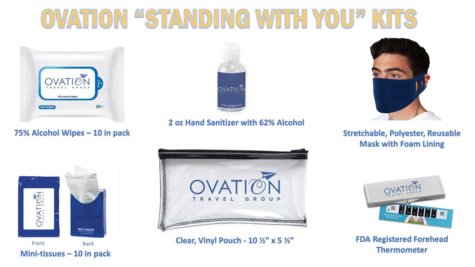 Ovation Travel Group sends corona care kits to clients