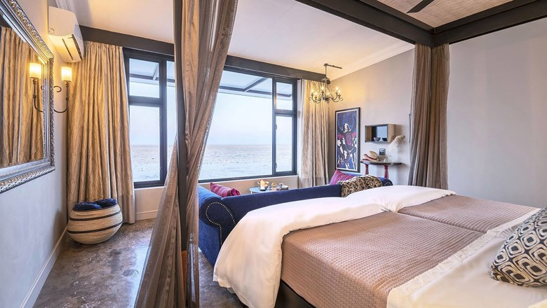 A guestroom at the Etosha King Nehale.