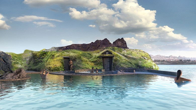 A rendering of Sky Lagoon by Pursuit, which is slated to open in Reykjavik next year.