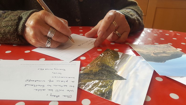 Away From the Ordinary is sending personalized, handwritten postcards from the Scottish Highlands.